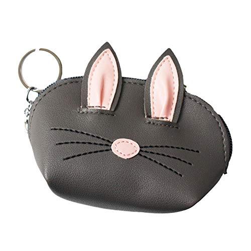 CyFe - Portamonete a forma di orecchie di coniglio con cerniera, facile da trasportare monete, biglietti, chiavi, mini borsa per ragazzi e ragazze, regalo di compleanno e Natale