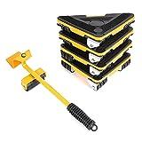 Patín Deslizante Para Muebles Almohadillas Móviles para Muebles 5 Piezas Mover Muebles y Kit Elevador Retirable Portátil Tarea Pesada Herramienta para Mover Muebles de Transporte de Ruedas