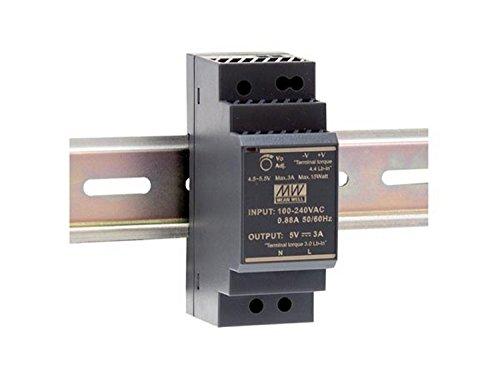 Mean Well HDR-30-12 Fuente de alimentación: 1 Salida de 30 W, Montaje en Carril DIN 12 V, 2 A, para Uso Industrial