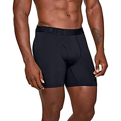 Under Armour Mens 2 Pack Tech Sports 001 Fast-Drying Underwear Large 15 cm Boxer Briefs Offering Complete Comfort Black // // Black