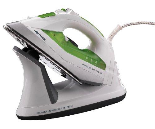 Ariete 6236 Plancha A Vapor 2.200 W con Y SIN Cable Freestyle, 2400 W, 0.3 litros, Acero Inoxidable, Verde, Color Blanco