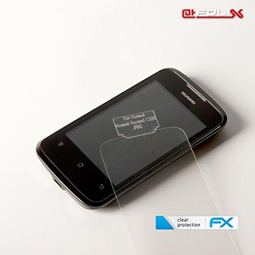 atFoliX Displayschutzfolie für Huawei Ascend Y200 (3 Stück) - FX-Clear: Displayschutz Folie kristallklar! Höchste Qualität - Made in Germany! - 3