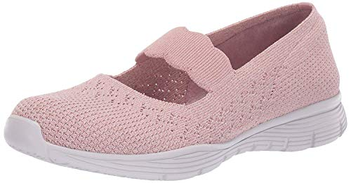 Skechers Women's Seager-Power Hitter Mary Janes, Pink (Rose Ros), 4.5 UK (37.5 EU)