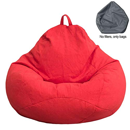 wongbey Bean Bag Chair Cover Sofa Cushion,Large Solid Color Simple Design Indoor Lazy Lounger Cover,Washable and no Skeleton Internal Filling Soft Outer Cover for Adults Kids