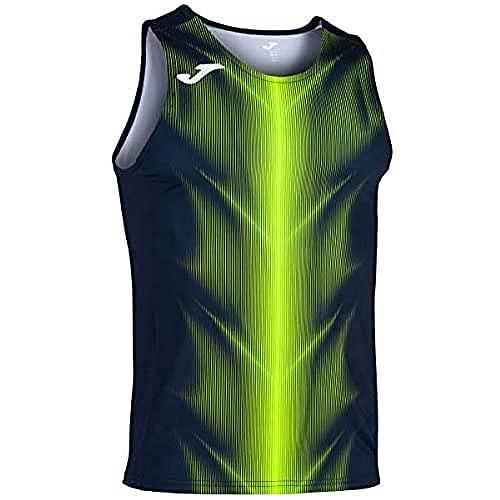 Joma Olimpia Camisetas, Hombres, Marino/Amarillo flúor, M