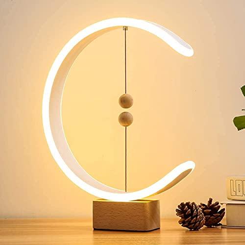 BCXGS Balance Lamp de Forma de C, Magnetic Switch,Lámpara LED con alimentación USB, lámpara de Noche Suave para el Cuidado de los Ojos Lámparas de mesita Regulables para Dormitorio, Sala de Estar