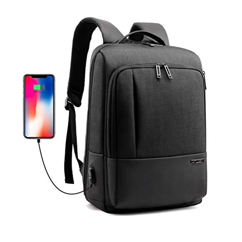 N \ A Laptop Backpack, Large Travel Backpack for Women&Men with USB Charging Port, Water Resistant College School Computer Bag, Fits 16Inch Laptop