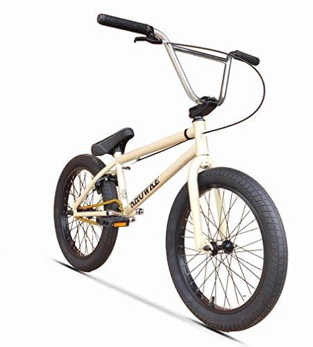 Fitness Deportes al aire libre Estilo libre Bicicleta BMX de 20 pulgadas con cuadro de rendimiento de absorción de choque Cuadro-8-llave Manivela de 3 secciones-Plato de acero de 25 dientes - Relac