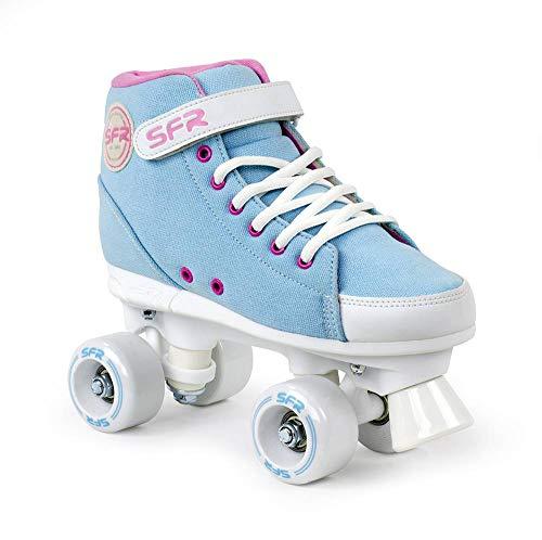 Sfr Skates Unisex, Jugend Vision Sneaker P Rollschuhe mit Knöchelriemen und Klettverschluss, Blau (Sky Blue), 35.5 EU