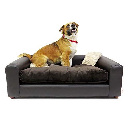 Moots Premium Leatherette Pets Sofa Espresso, Large