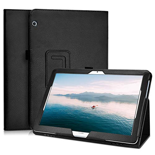 KATUMO Case for Huawei Mediapad T5 10 inch Folio Case with Pen Pot Flip Case for Huawei Tablet T5 10.1 inch Leather Case