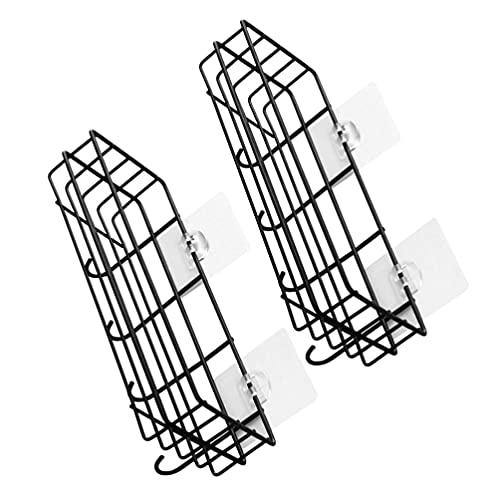 Angoily 2 Unidades de Cabina de Ducha Ventosa de Baño Estantes Flotantes con Gancho para Ducha Casera Estante Organizador Montado en La Pared
