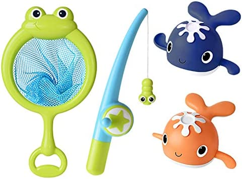 perfeciti Baby badspeelgoed vissen walvis spel met wind up zomer uitdagend plezier waterspeelgoed voor baby 18 maanden badspeelgoed voor kinderen