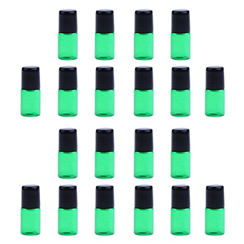 Fenteer 20pcs Bouteille Diffuseurs Flacon Rouleau Roll-on Pipette - Vert, 3ML