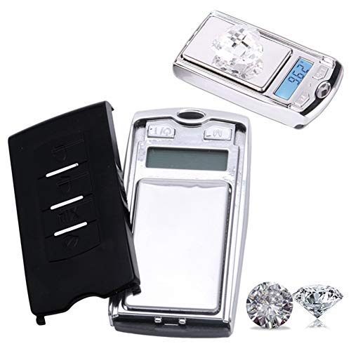 100g/0.01g Precision Mini Portable Gram Scale with Ring Keychain,Multi-function Car Key Shape Electronic Scale for Jewelry,Medicine, Herb, Food