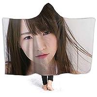 のぎざか よだ ゆうき1 (1) かわいい ソファーの毛布 エアコン対策 昼寝毛布 静電気防止 多用途 ブランケット 暖かい おしゃれのプレゼント カスタマイズ可能 模様を刷り込む 掛け毛布