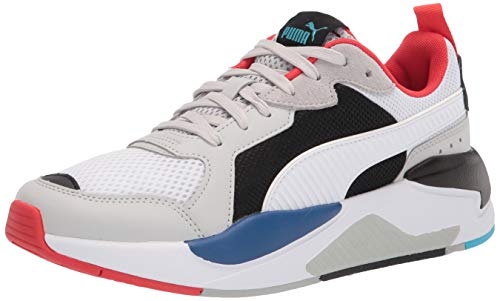 PUMA Herren X-RAY Sneaker, Grau-Violet Weiß Schwarz-Mohnblumen-Rot-Blau Atoll, 37.5 EU