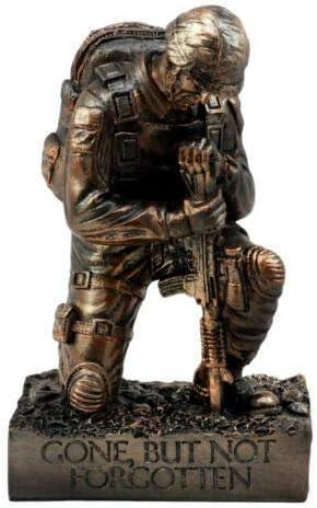 Fort Worth Mall Battlefield Kneeling Soldier Statue Honor Ranking TOP19 Tall Decor 8.5