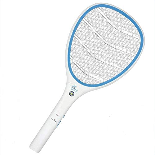 Quen Electric Zapper Racket, USB Rechargeable Cordless Handheld Portable Zappers Racquet for Home, Indoors and Outdoor with LED Light, Unique 3 Layer Safety to Touch Mesh