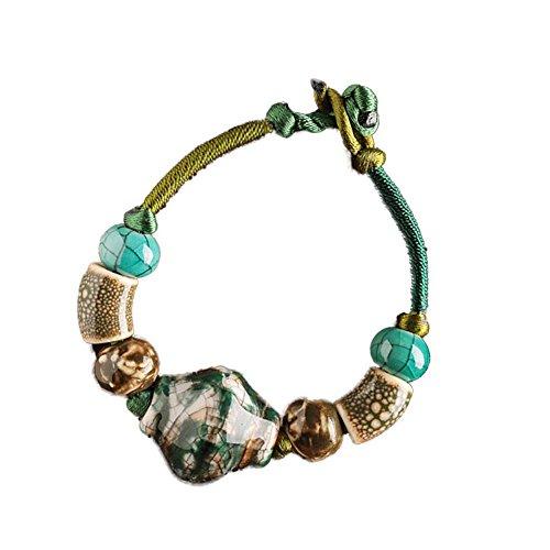Ice Crack Bracelets en céramique Charm Bracelets de style chinois pour les femmes 15 CM