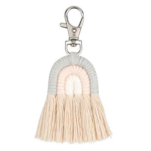 Llavero con diseño de arco iris para bolsa de coche, regalo personalizado para ella