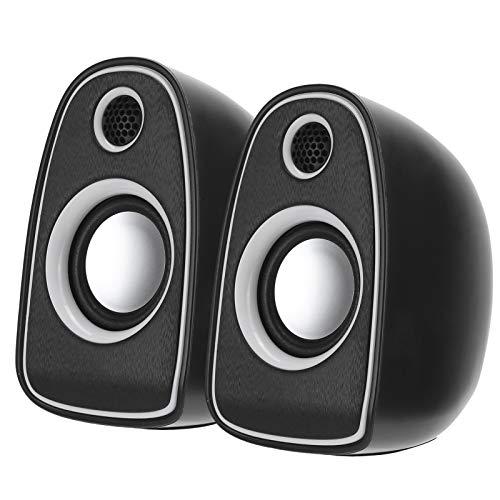 Goshyda Altavoz Digital Q5 Mini Altavoz Digital Hi-Fi portátil Entrada estéreo Voice Box, 360 ° hasta el Suelo, Compatible con Todos los Dispositivos de Interfaz de Audio de 3,5 mm