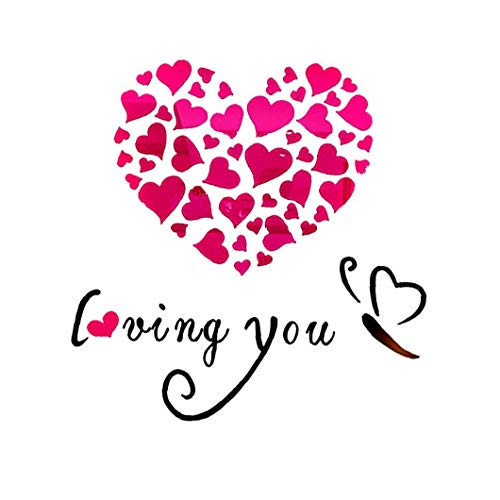 Liadance 3D Corazón Cariñoso Pegatinas De Pared Moderna De Bricolaje Espejo Amantes De La Decoración Romántica Pegatinas De Pared Calcomanía para Dormitorio La Decoración del Hogar del Arte