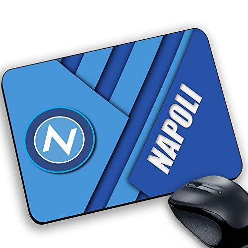 MyCust Tappetino Mouse Pad Personalizzato Squadre Calcio Napoli Azzurri Stemma Logo Foto 7218007