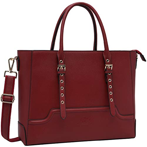 Laptop-Bag-for-Women, 15.6 Inch Classic Work-Bags Women-Business-Briefcase for School Office Travel by EaseGave
