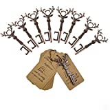 DerBlue 60 PCS Key Bottle Openers,Vintage Skeleton Key Bottle Opener, Wedding Favors Key Bottle Opener Rustic Decoration with Escort Tag Card