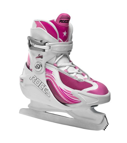 Roces Kinder Schlittschuhe Swish 1.0 Girl, White-Deep Pink, 30/35, 450630-001