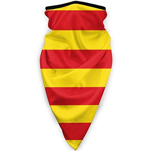 ASDAH Bandera catalana Protective Face FaceCovers Fundas Deportivas Reutilizables a Prueba de Viento para Hombres y Mujeres