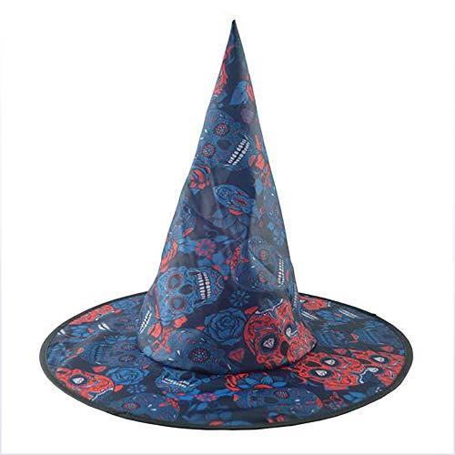 YGD Halloween Hoed, Halloween Kostuum Heks Hoed Cap Heks Kostuum Accessoire voor Heks Thema Decoratie Of Halloween Feest,A