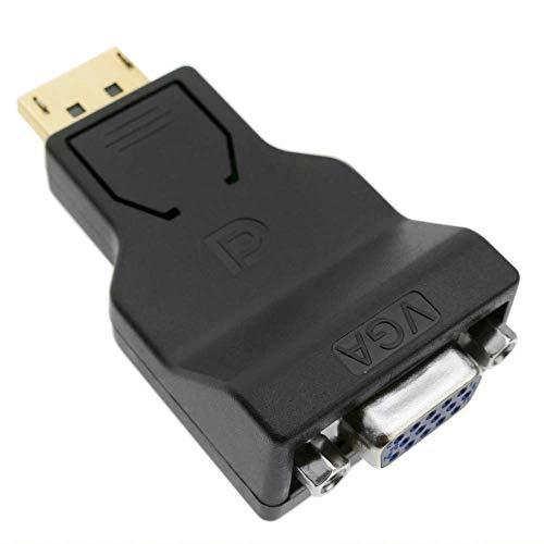 BeMatik - Adaptador compacto de DisplayPort macho a VGA hembra