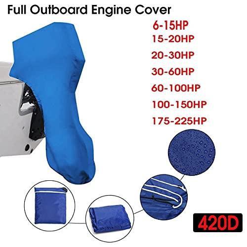 Nbxypeaus Barco 420D PROTECCIÓN DE Cubierta DE Motor DE Fuera Azul for 6-22 5HP Motor Impermeable a Prueba de Polvo a Prueba de Polvo (Color : 6-15HP)