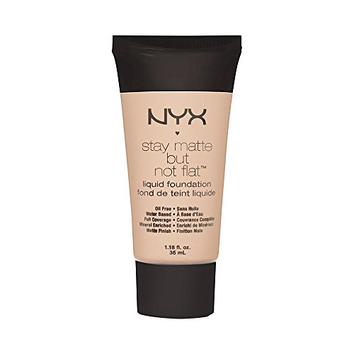NYX PROFESSIONAL MAKEUP Stay Matte but not Flat Liquid Foundation, Porcelain, 1.18 Fl Oz