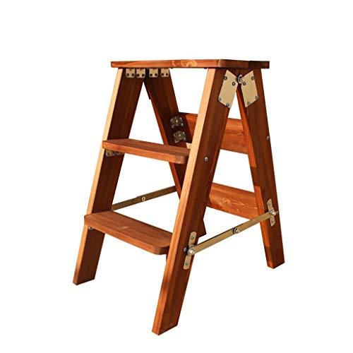 Xiao Jian- multifunctionele houten ladders keuken hoge krukken massief hout vouwen stap krukje klimmen ladder Kruk Bloem Stand Stap krukken