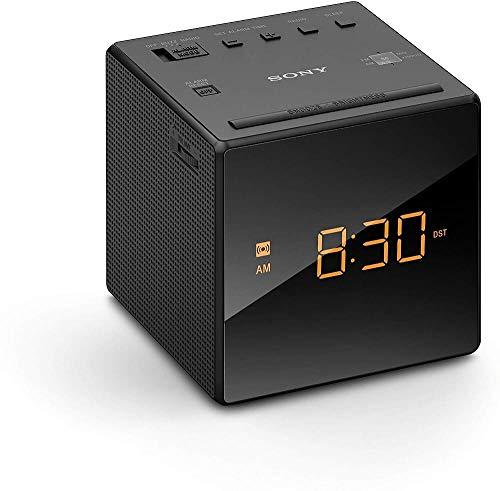 Rádio Relógio Sony ICF-C1 Portátil com Despertador - Preto
