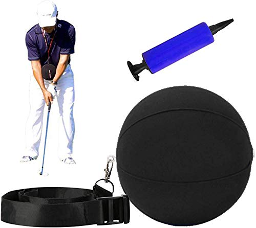 Golf Training Aid Golf Swing Training Aid Assist Golf Posture Correction Trainer Golf Smart Inflatable Ball Set with Air Pump Adjustable Lanyard Teaching Trainer Aid for Men Women Beginner Golfer