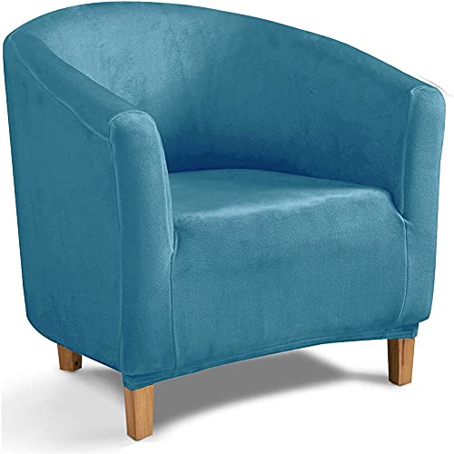 Funda para Sofá Club Chair, Fundas De Silla De Bañera De Terciopelo Elástico Cubiertas Elegantes Fundas Blandas para Sillón Protector De Muebles (Azul eléctrico)
