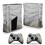 MightySkins Carbon Fiber Skin for Xbox 360 S Console - White Fur | Protective, Durable Textured Carbon Fiber Finish | Easy to Apply, Remove, and Change Styles | Made in The USA