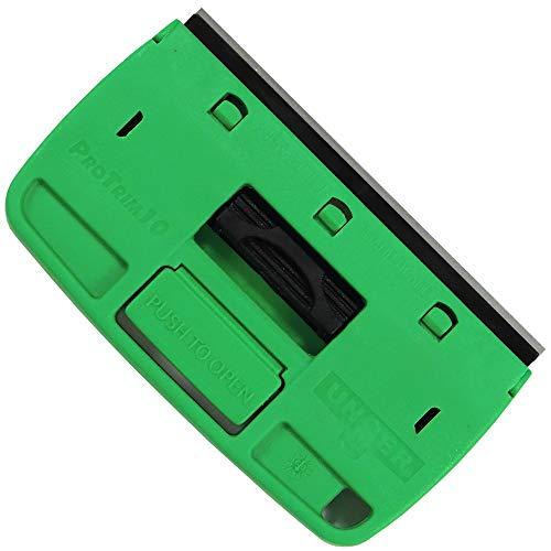 Unger Glasschaber ProTrim 10 (für Glasflächen, Fensterschaber mit Klingenschutz, Klingenwechsel per Knopfdruck, klein und handlich) TX100