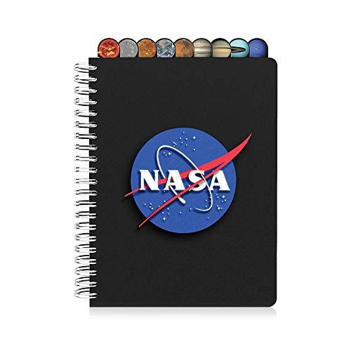 Diario de la NASA con pestañas planetarias, cuaderno personal temático...
