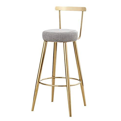 LIUSIXIAO Tabourets en fer Tabouret de bar Chaise de bar Coussin en tissu + Art de fer cush Coussin détachable , Or Meubles De Bar