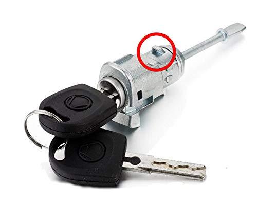 ProPlip - Kit de cerradura + cilindro de puerta delantera derecha para Volkswagen Passat Golf 4 Bora Multivan Fox Seat Ibiza Cordoba Toldeo Leon + llaves 6L3837167/168B