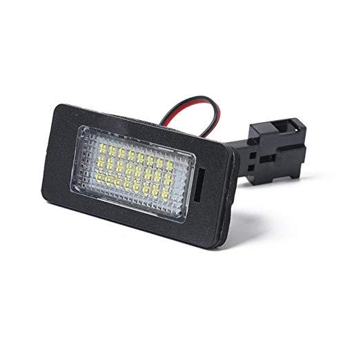 Luces de matrícula de Coche 12V LED NO Error CANBUS Car Placa DE Carne DE LA Placa DE LUZ Compatible con Audi A1 8X A3 8V A4 B8 A5 8T A6 C7 A7 4G Q3 8U Q5 Q7 TT 8J Impermeable (Color : 1 pcs)
