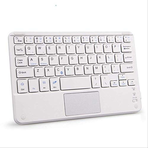 Portable Mini Wireless Bluetooth Keyboards with Touchpad Universal For All 7-10 inch Android Tablet For iPad Smartphones White with Touchpad