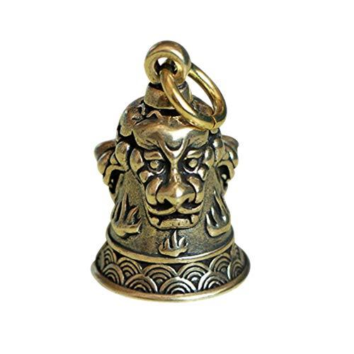 SUPVOX Campanas de Bronce Campana de Llavero de Cobre Campanas artesanales Vintage Campana de Bronce de Tres Leones para campanillas de Viento Haciendo encantos de Llavero
