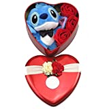 Lilo & Stitch Mini Bouquet Rose Peluche Stitch Confezione A Forma di Cuore Love Hearth Amore Idea...