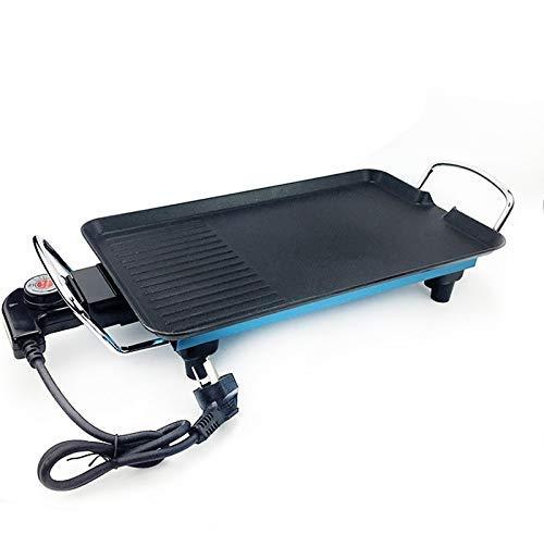 Fondue Hot Pot Elektrische Grill, Modern Blauw Huishoudelijke Commerciële Elektrische Grill Pan Rookvrije Pot Anti-aanbakmachine.